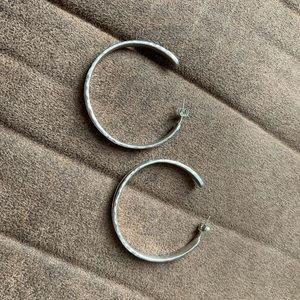 English Channel hoop earrings